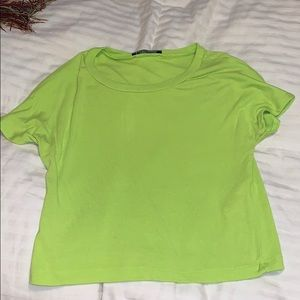 Zara lime green crop top